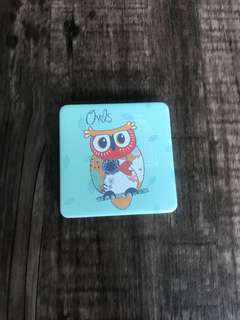 Brand new compact mirror with owls design