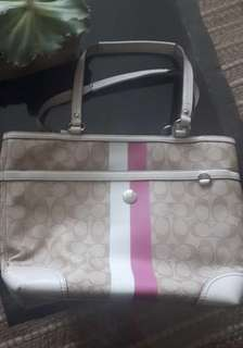 Coach monogram tote bag