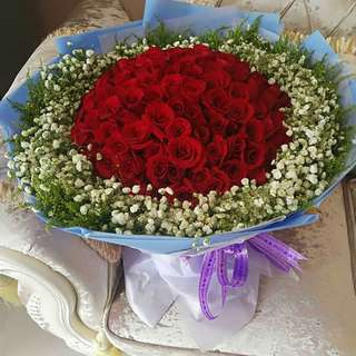 Fresh Flower Bouquet Anniversary Birthday Flower Gifts Graduation Roses Sunfowers Baby Breath -  47377     199