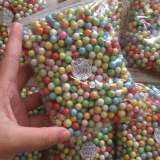 rainbow foam beads (large)