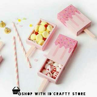 inStock Pink Ice Cream Shaped Boxes