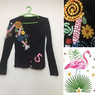 Jacket with Embossed Design