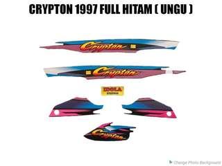 Striping Crypton 1997 Full Hitam ( Ungu )