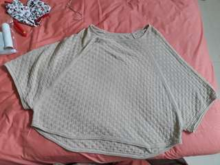 Cream knit ponco