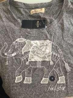 Hollister t-shirt 原價250 未剪牌