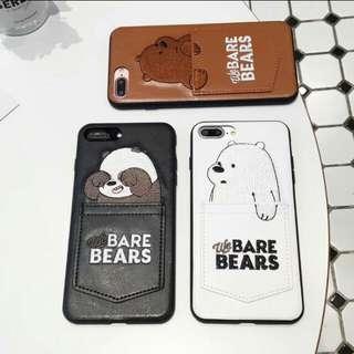 [PO] IPhone We Bare Bears Skin Pattern Case