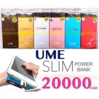 [LOCAL]UME Slim Series 20000mAh Power Bank 20000 mAh