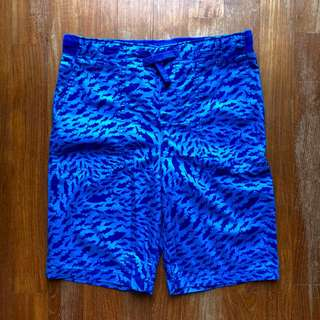 LandsEnd blue bermudas with shark print