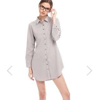TCL Shirt Dress in Grey