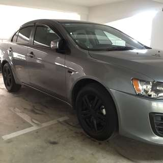 Mitsubishi Lancer Plastidip spraying services plasti dip