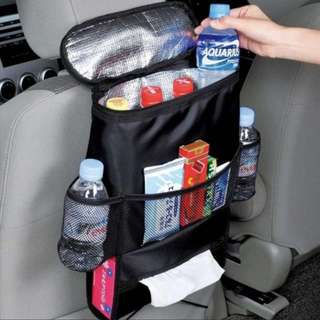 Car Cooler Hanger Bag / Storage Organizer with Tissue Box Compartment