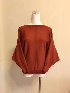 二手鐵銹紅毛衣