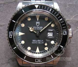 TUDOR PRINCE OYSTERDATE MINI-SUB 200m 660ft WATCH 73090 w/cert & invoice from 1993