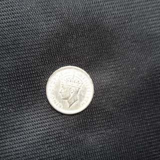 Antique coin, King George Sixth, 1950