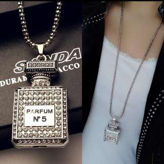 BNIB Perfume bottle long sweater necklace