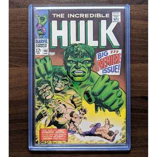 INCREDIBLE HULK 102 (1968) 1st own title key