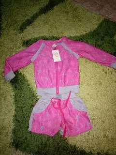 baju setelan anak import