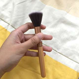 Gold face powder brush