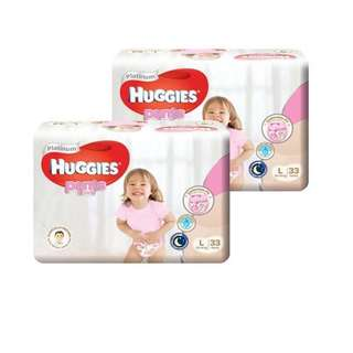 Huggies Platinum Pants for Girls - size L (10-14kg)