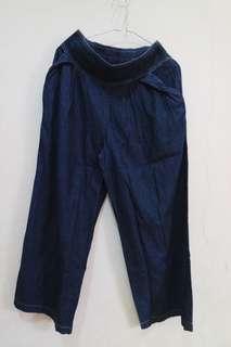 Celana kulot bahan jeans