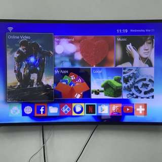 """55"""" 4K UHD SMART CURVED TV BY ZEUS POWERED"""