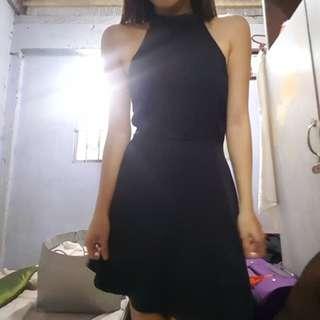 Black Skater Sexy Dress