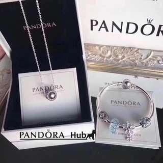 Pandora Bracelet/ Necklace Set