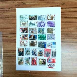 舊英國郵票32枚