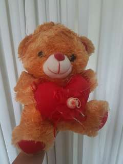 Small Orange Teddy Bear with heart