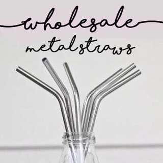 Wholesale metal straws with cleaning brush