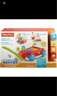 BNIB fisher price roller blocks wagon . Hamper leapfrog nan
