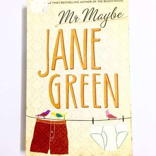 Mr Maybe By Jane Green (romance chicklit book)