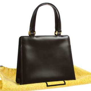 Vintage FENDI Hand Bag Dark Brown