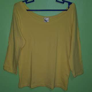 OLD NAVY stretch fit plain yellow