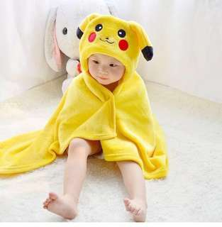 Baby Hooded bath towel/blanket + Free meetup at town area/JE