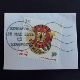 Singapore stamp. 2017-11-15 (10-4) Greetings-Well Done.