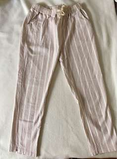 Light Pink Cropped Pants