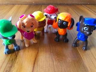 Paw Patrol Team Figurine Marshall Chase Sky Rubble Zuma Rocky Figurines