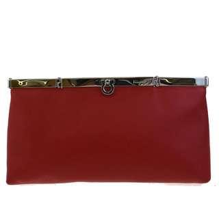 Vintage Salvatore Ferragamo Clutch-Red