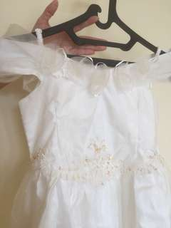 dress / gaun pesta sabrina putih anak
