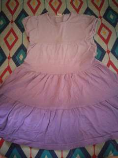 Short Sleeve Violet Ombre Dress for 3-5 y/o Girls