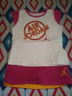 2-Pc Air Jordan Shirt and Skirt Set for 3-5 y/o Girls