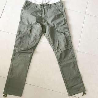 Chocoolate長軍褲 細碼 約30腰 軍綠色