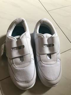 BN white School shoes