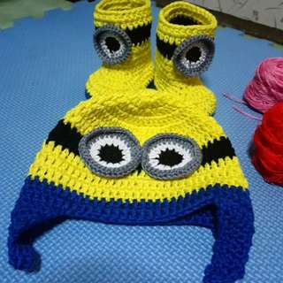 Crochet minion set
