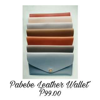 Pabebe Leather Wallet