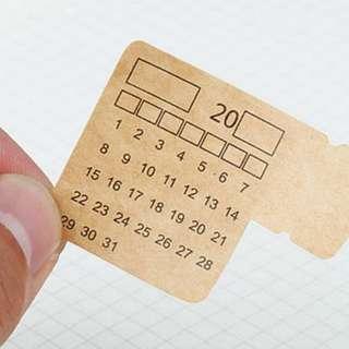 📆📆 INSTOCKS MUJI styled Calendar Stickers / Planners Tabs