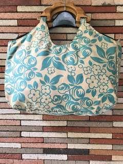 Wood Handle Handbag