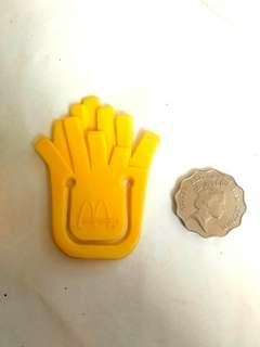 麥當勞 早期 薯條型 書簽 書籤 夾