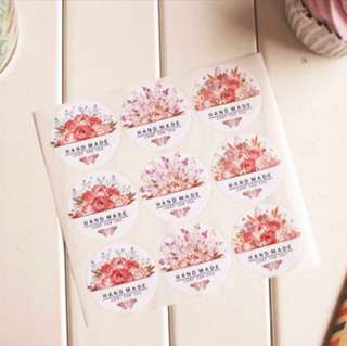 36 pcs Handmade Just For You Sealing Sticker Label Seal Cookie Baking Labels Stickers Kraft Gift Packaging